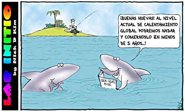 Tiburones y el cambio climatico