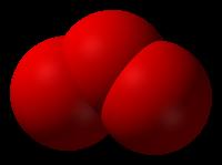 Molécula de ozono (O3)